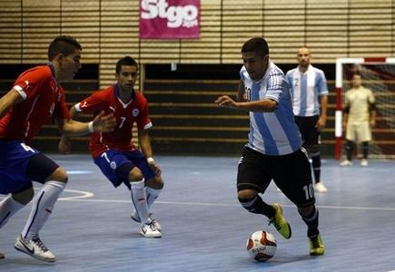 Fútbol Sala: Argentina derrota a Chile en partido inaugural