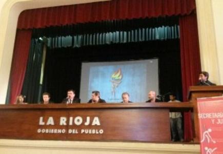 Víctor Santa María presentó la Confederación Riojana de Deportes