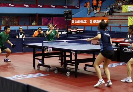 Tenis de mesa – Dobles Mixtos – Argentina con medalla de Plata