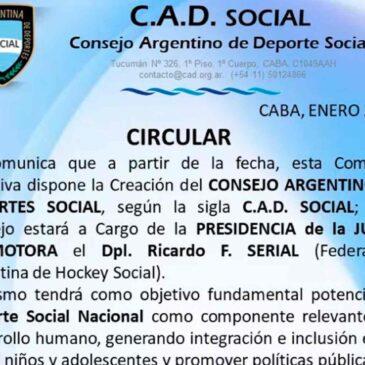 Se creó el Consejo Argentino de Deportes Social