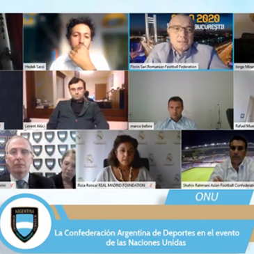 La Confederación Argentina de Deportes participó del evento de las Naciones Unidas