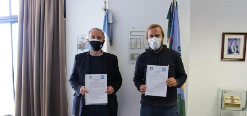 Firma de convenio entre la CAD y el municipio de Ezeiza