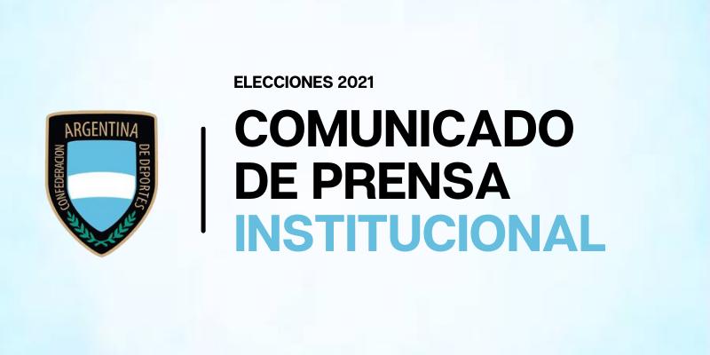 Se oficializó la lista de candidatos y candidatas para las próximas elecciones de la Confederación Argentina de Deportes